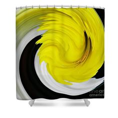 """Daffodil Twist Shower Curtain   at http://fineartamerica.com/products/daffodil-twist-sarah-loft-shower-curtain.html  This shower curtain is made from 100% polyester fabric and includes 12 holes at the top of the curtain for simple hanging. The total dimensions of the shower curtain are 71"""" wide x 74"""" tall.  $65"""