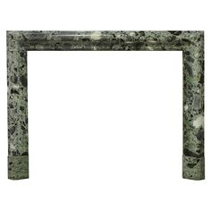 """Rare """"Vert Antique the Grece"""" Marble Bolection Fireplace Mantel 