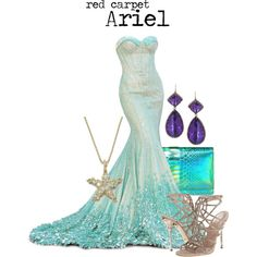 """red carpet Ariel"" by charlizard on Polyvore"