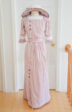Making a Striped Cotton Dress, Early 20th Century, Continued   Angela Clayton's Costumery & Creations
