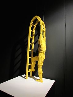 Art work by Nathan Sawaya -- all made from LEGO bricks! Brick Art, Lego Brick, Bricks, Art Work, Decor, Artwork, Work Of Art, Decoration, Brick
