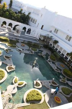 Taj Lake Palace Udaipur: The courtyard of the Lake Palace