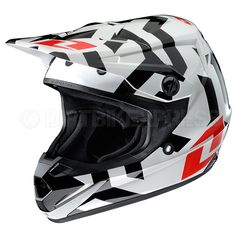 2013 One Industries Atom Kids Helmet - Labyrinth White  The Atom was built specifically for today's young athletes, with clean styling and fresh graphics as well as incorporating the latest technology and comfort-enhancing features..