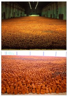 Field of 200.000 clay figures, by Antony Gormley