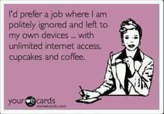 I think I have this job.at least the slightly ignored part - but, sadly - no cupcakes. The Words, Just In Case, Just For You, Me Quotes, Funny Quotes, Humor Quotes, Work Quotes, Funny Tweets, Motivational Quotes