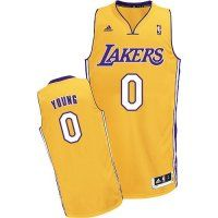 Los Angeles Lakers Swingman #0 Nick Young Yellow Jersey
