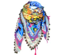 Handcrafted Ibiza scarf made of vintage and por NIZHONImusthaves