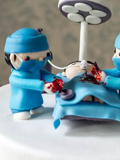 Cakes | Not-so-gory-with-only-a-little-blood Surgeon Cake | TRP Cake Studio