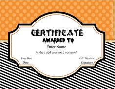 Blank certificate halloween certificate template 13 free printable halloween certificates to give out at halloween costume parties or to friends on halloween halloween certificate templates yelopaper Choice Image
