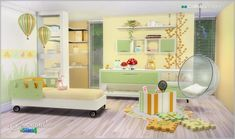 Cotton Whisper room for (twins) kids at SIMcredible! Designs 4 via Sims 4 Updates
