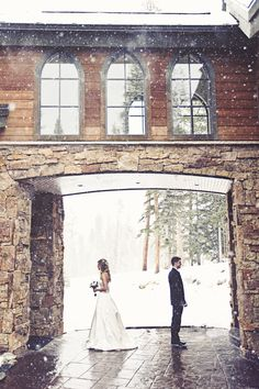 Breckenridge Lodge and Spa Wedding Photography - Snowy Mountain Wedding