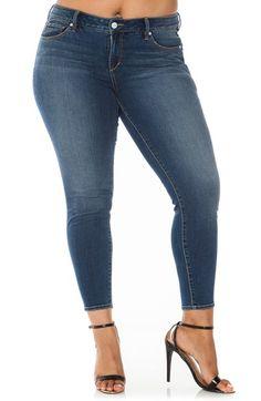 Plus Size Corset Waist Stretch Skinny Jeans | Plus Size Fashion ...