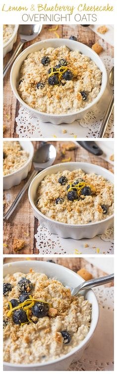 My Lemon and Blueberry Cheesecake Overnight Oats combine all the very best flavours of the classic cheesecake combination into a healthy, filling breakfast recipe. Thick, creamy and full of flavour - these will become a firm favourite!
