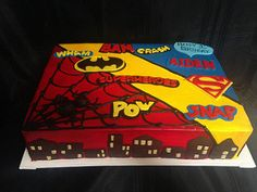 superhero sheet cake (3038)   by Asweetdesign