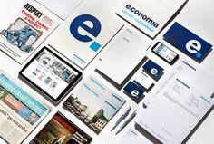 Economia - Corporate visual identity by Dynamo design, photo of printed realization by w:u studio Visual Identity, Paper Design, Graphic Design, Studio, Printed, Corporate Design, Studios, Prints, Visual Communication