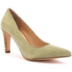 Escarpins rosemetal i0228a de couleur beige, en cuir. Chaussures montées sur un…