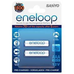 SANYO ENELOOP READY TO USE 2X AAA HR-4UTGB-2BP (800MAH) HIND JA INFO