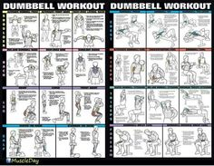 Dumbbell workout.
