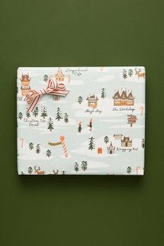 Rifle Paper Co. for Anthropologie Holiday Wrapping Paper Book Christmas Tree Forest, Rhyme And Reason, Simple Christmas, Disney Christmas, Christmas Holiday, Christmas Decor, Christmas Ideas, Paper Book, Christmas Gift Wrapping