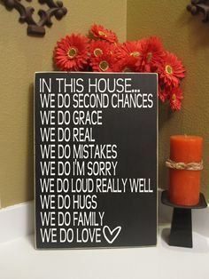 In this House - Subway Art, Family Rules - sign - personalized - we do family - we do love - we do real - grace - Style HM27 via Etsy