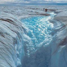 A view of Melting Ice Sheet in Greenland. | See More Pictures