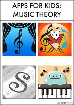 Piano Lessons For Kids Music theory apps for kids from And Next Comes L - Music theory apps for kids Online Music Lessons, Music Lessons For Kids, Music Lesson Plans, Music For Kids, Piano Lessons, Art Lessons, Music Theory Worksheets, Apps, Piano Teaching