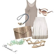 """""""casual skirt"""" by bonnaroosky on Polyvore"""