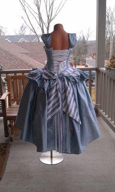 Alice in Wonderland Wedding Gown Corset by KMKDesignsllc on Etsy