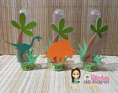 Tubetes Dinossauro Park Birthday, Dinosaur Birthday Party, Third Birthday, Easy Crafts For Kids, Diy For Kids, Diy And Crafts, Festa Jurassic Park, Girl Dinosaur, Baby Dino