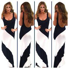 Lovely long dress.