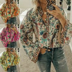 Light and screen. Color: As picture show. No exception. Tunic Blouse, Shirt Blouses, Tunic Tops, Hippie Tops, Hippie Style, Loose Shirts, Loose Tops, Plus Size T Shirts, Plus Size Blouses