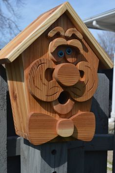 Large Gentleman Cedar Birdhouse with Flush by InkedWoodworking