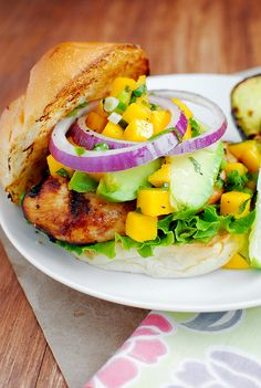Key West Grilled Chicken Sandwich and Grilled Avocado