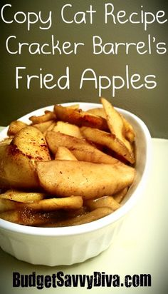 Easy to make vegan. Copy cat Cracker Barrel ' s fried apples. Fruit Recipes, Apple Recipes, New Recipes, Cooking Recipes, Favorite Recipes, Amazing Recipes, Sweet Recipes, Cooking Tips, Dinner Ideas