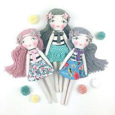 fabric doll, handmade doll, heirloom doll, rag doll, modern toy, www.flowersforjuliette.com