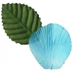 Pétales turquoise avec feuilles les 100, pétales de fleurs turquoise, pétale de rose turquoise