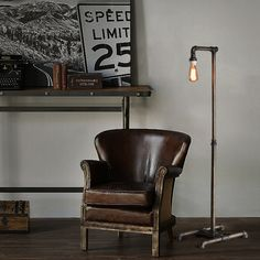 Retro industrial floor lamp Iron art creative standing light floor lamps for living room Abajur de chao made with water pipes