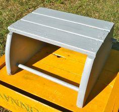 Small Step Stool Bench Vintage Gray Patina by CasaKarmaDecor, $25.00