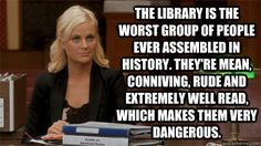 One of the best episodes of Parks and Rec, featuring the Library!