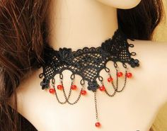 Hey, I found this really awesome Etsy listing at https://www.etsy.com/ru/listing/166696500/vintage-vampire-black-lace-clavicle