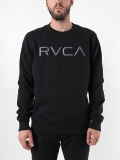 The RVCA Embroidered Crewneck is a heavyweight pullover crewneck fleece with a front chest embroidery.