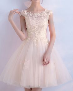 Pink Shorts, Lace Shorts, Dresses For Teens, Formal Dresses, Homecoming Dresses, Cap Sleeves, Tulle, Cute Outfits, Pretty