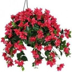 Artificial Hanging Flower Bushes, Baskets & Potted Plants | Summer Decor Ideas By takkhisa
