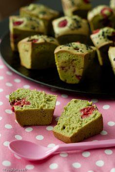 Muffins Légers au Thé Matcha et aux Framboises