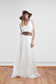 Orlane Herbin - Robes de mariee - Collection 2015 -  Top Antoinette - Jupe Barielle - Ceinture Tango  - La mariee aux pieds nus