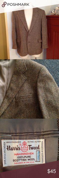 Vintage Woolrich Herringbone Harris Tweed Jacket Nice vintage Woolrich Harris Jacket! Brown herringbone. Marked size 44 S. Great condition Harris Tweed Suits & Blazers Sport Coats & Blazers