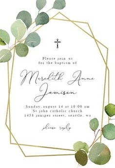 Soft Floral - Baptism & Christening Invitation Template | Greetings Island Printable Invitations, Printables, Invitation Templates, Invitation Layout, Christening Invitations, Anniversary Invitations, Layout Template, Floral, Place Card Holders