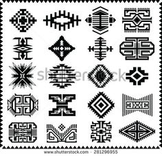 Find Aztec Navajo Indian American Vector Pattern stock images in HD and millions of other royalty-free stock photos, illustrations and vectors in the Shutterstock collection. Native American Patterns, Native American Design, Native Design, Indian Patterns, Tribal Patterns, Aztec Tribal Tattoos, Tribal Art, Tatuaje Navajo, Vector Pattern