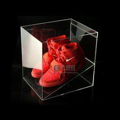 Clear acrylic shoe box manufacturer