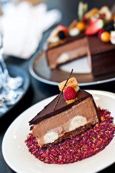 Luxusní čokoládový dort.